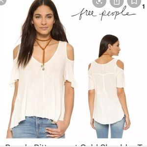 Free people open shoulder shirt